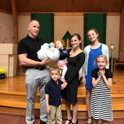 All of us after Bailey's Baptism