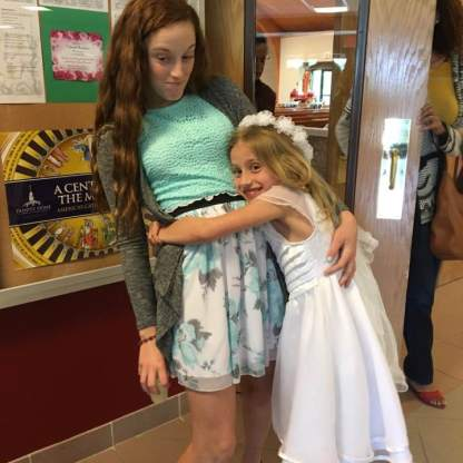 Autumn received her First Holy Communion